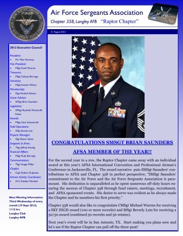 AFSA Chapter 358 Newsletter 21 August 2012 - Air Force ...