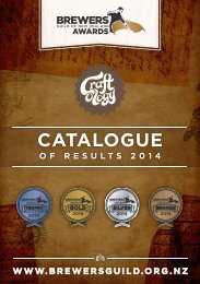 2014 Craftology - Brewers Guild Awards Catalogue of Results