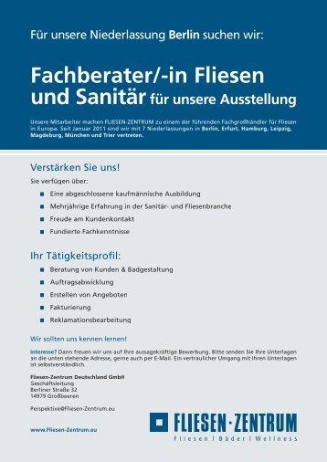 Fachberater/-in Fliesen - Fliesen-Zentrum Deutschland Gmbh