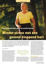 Minder stress met een gezond kloppend hart - Heartmath Benelux