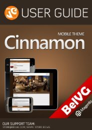 Cinnamon Mobile Theme - BelVG Magento Extensions Store