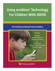 Using emWave® Technology For Children With ADHD - Heartmath ...