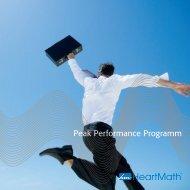 Peak Performance Programm - Heartmath Benelux