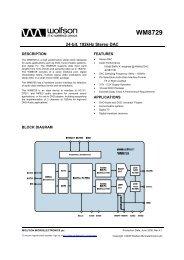 WM8729, Rev 4.1 - Wolfson Microelectronics plc