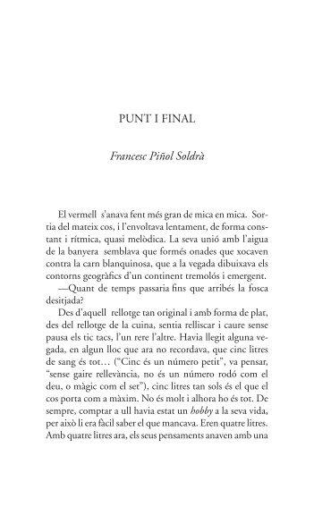 PUNT I FINAL Francesc Piñol Soldrà - Tinet