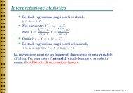 Interpretazione statistica - Esercizi e Dispense