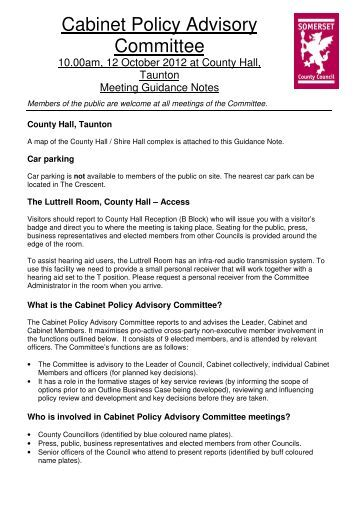 2012 October 12 Public Guidance Notes - Somerset County Council