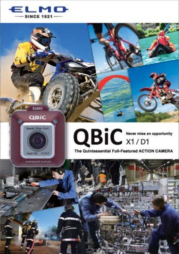 Brochure QBiC X1 Gray Action Camera - Elmo