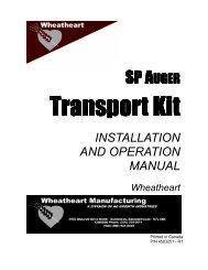 SP Heavy Transport Kit Operator's Manual