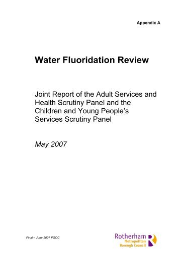 Fluoridation Report - FINAL , item 19. PDF 393 KB - Meetings ...