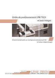 Unités de positionnement LINE TECH et axes intégré - AxNum AG