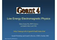 Low Energy Electromagnetic Physics - Geant4 - CERN