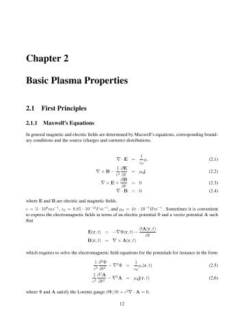 Chapter 2 Basic Plasma Properties