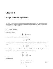 Chapter 4 Single Particle Dynamics