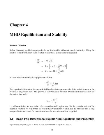 Plasma Equilibria and Associated Properties
