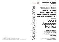 Musicologia del XX Secolo - Conservatorio di Como