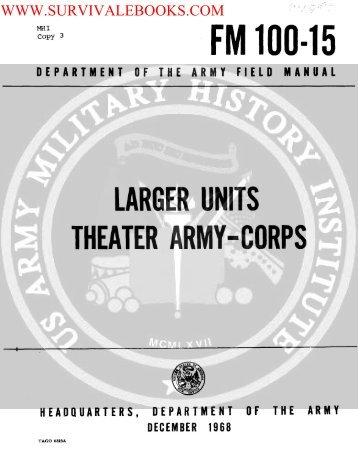 1968 US Army Vietnam War Larger Units Theater ... - Survival Books