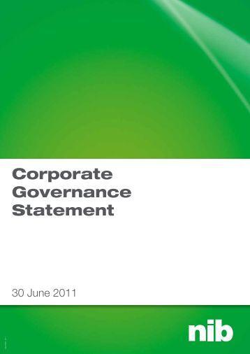 corporate governance statement 2011.pdf - nib