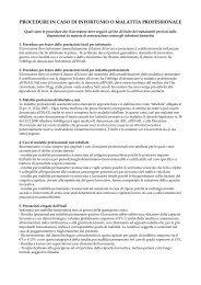 procedure in caso di infortunio o malattia professionale - Uilpa-Ur
