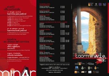 Laor'mrnu Jazz Festzwal - Taormina Arte
