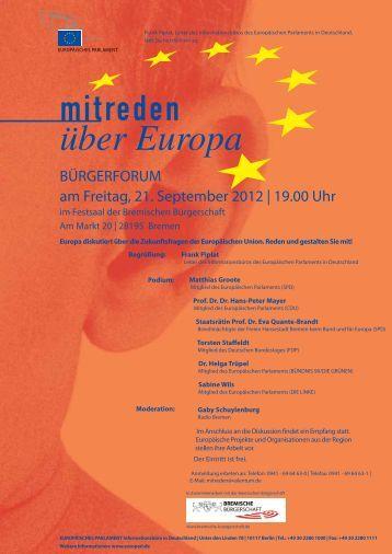 BÜRGERFORUM am Freitag, 21. September 2012 ... - Stbv Bremen