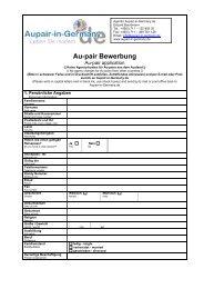 Au-pair Bewerbung für Deutschland - Aupair-in-Germany.de