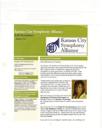 Symphony - Kansas City Symphony Alliance