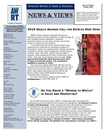 NEWS & VIEWS - Alliance for Women in Media