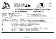 3. Zofinger Gymkhana mit Bodenarbeitsprüfungen 27. und ... - SVPK