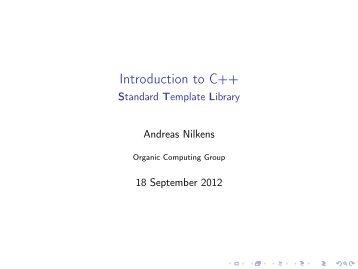 The C Standard Template Library Vanderbilt University