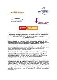 Discriminatie van vrouwen en mannen in de ... - Vrouwenraad