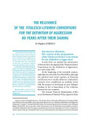the relevance of the titulescu-litvinov conventions for the definition of ...