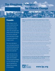 Ahwahnee Principles for Climate Change - Local Government ...