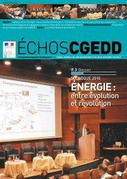 Les Echos CGEDD n° 64 - Ministère du Développement durable