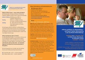 Gender Mainstreaming in der beruflichen Weiterbildung - Arbeiten + ...