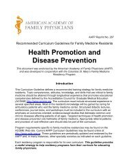 Health Promotion and Disease Prevention Curriculum Guidelines