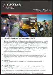 TETRA Applications Guide - Wired & Wireless Solutions International
