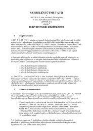 Kábeltartó-szerkezet konstrukciós felépítése - OBO Bettermann