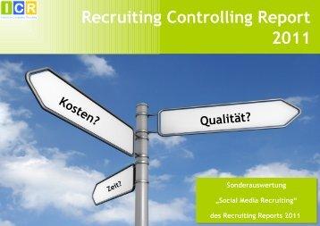Recruiting Controlling Report 2011 - Competitive Recruiting