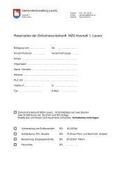 Zivilschutzanlage - Gemeinde Lauerz