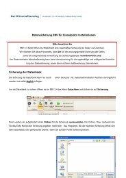 Datensicherung EBV für Einzelplatz Installationen Sicherung der ...
