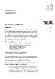 Kommissorium for lægemiddelkomiteer i Region Midtjylland