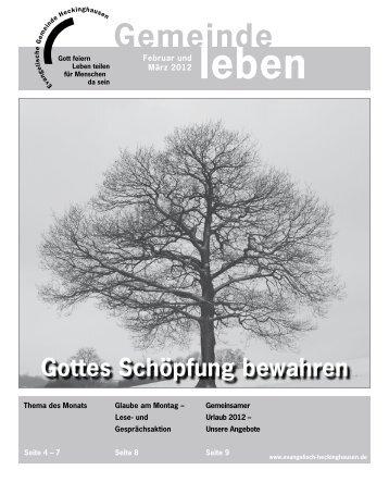 Gemeindebrief Heckinghausen 02+03/2012 - Vereinigte ...