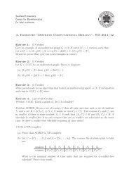 "2. Exercises ""Discrete Computational Biology"", WS 2011/12"