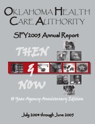 State Fiscal Year 2005 - The Oklahoma Health Care Authority