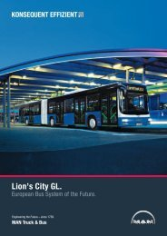 Lion's City GL (de) (2 MB PDF) - MAN Truck & Bus Schweiz AG