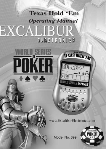 Layout of Texas Hold 'Em - Franklin Electronic Publishers
