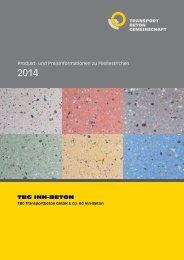 Preisliste 2014 Fließestrich - Inn-Beton