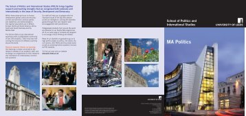 MA Politics - School of Politics International Studies - University of ...