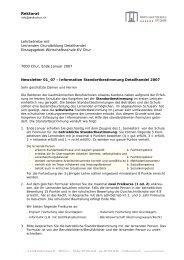 Newsletter 01_07 - Information Standortbestimmung Detailhandel ...